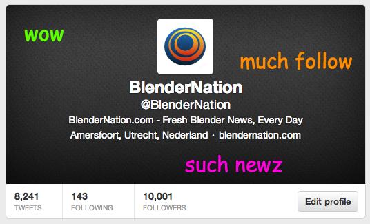 @BlenderNation now has 10,000 Followers! blendernation