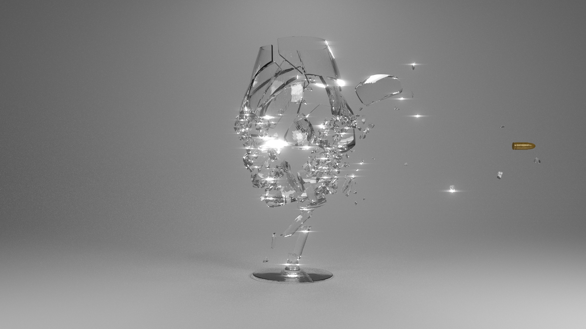 Blender Crystal Ball Glass