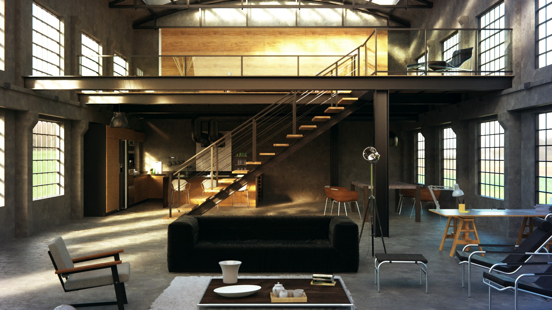 Industrial Loft Blendernation