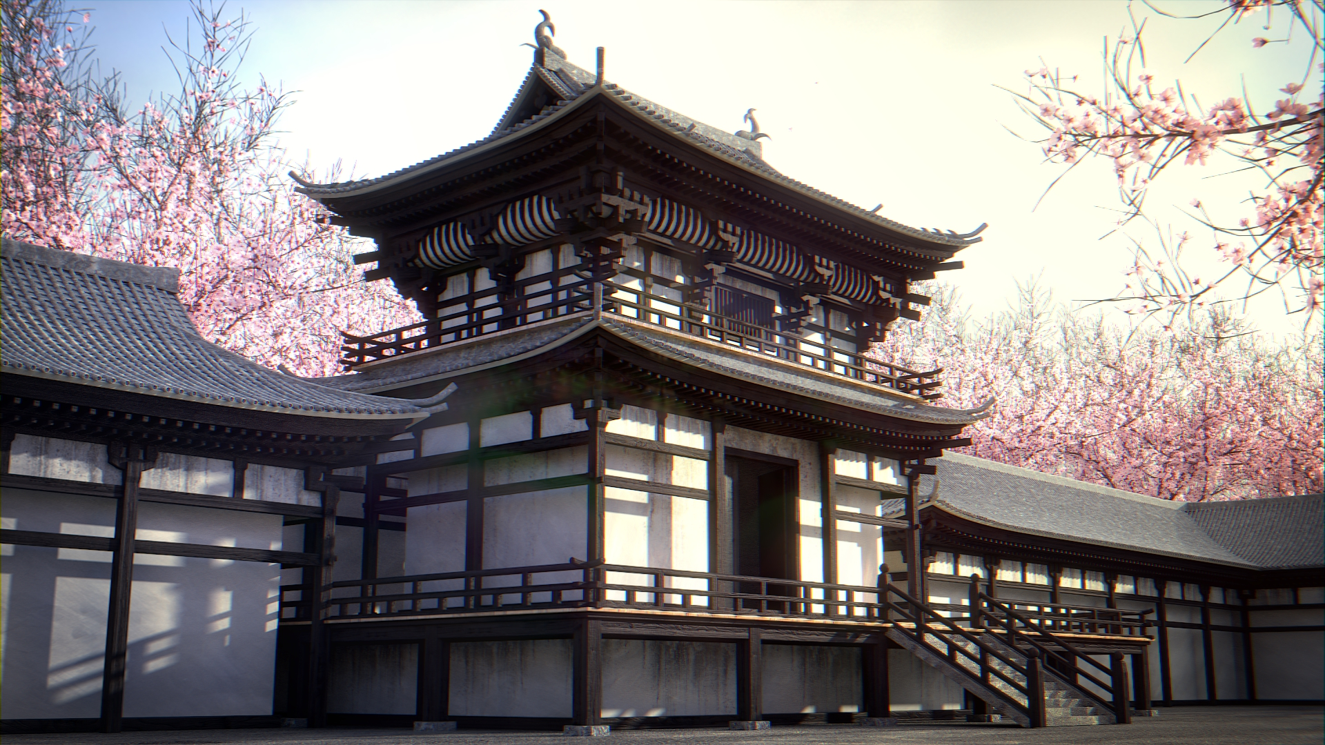 Japanese Temple - BlenderNation: https://www.blendernation.com/2014/09/17/japanese-temple/