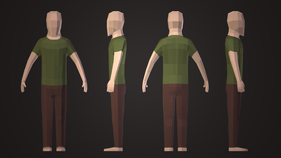 Low Poly Character Modeling Blender : Low poly human character video blendernation