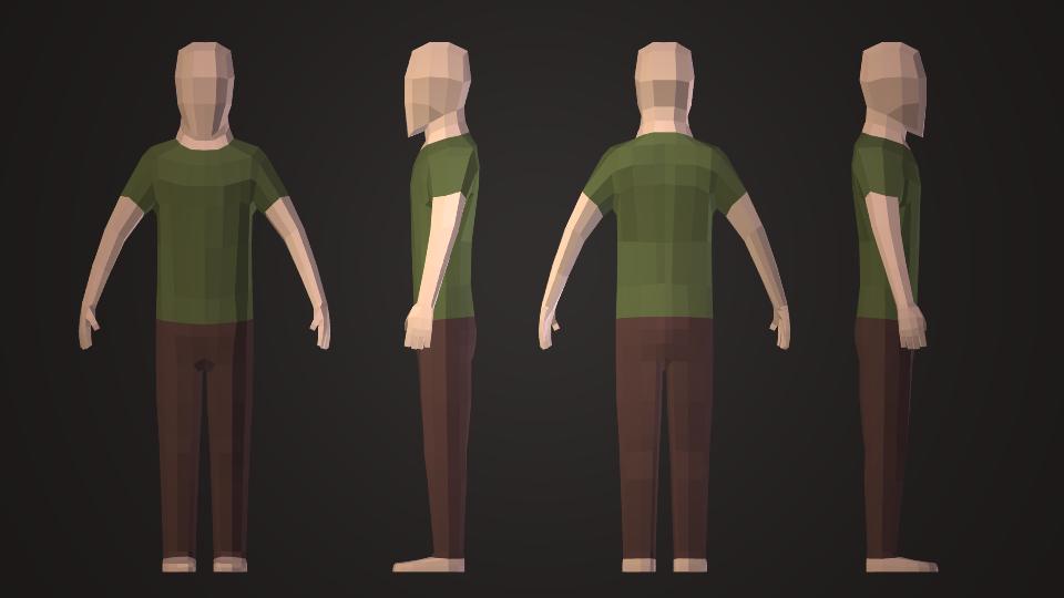 Как сделать 3d модель человека из