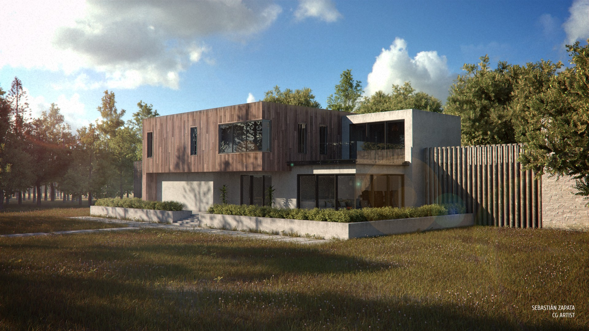 Modern house blendernation for I house architecture