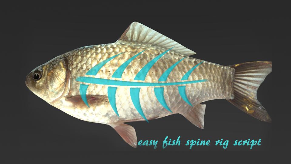 Auto fish rig python script blendernation for Fish in a blender