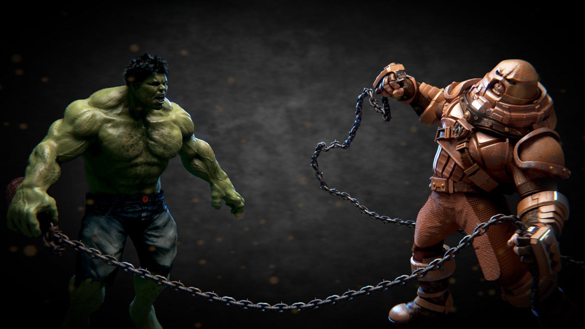 X Men Juggernaut Vs Hulk