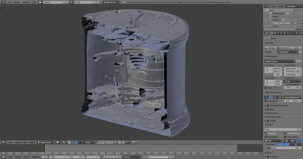 Screenshot of the CT model