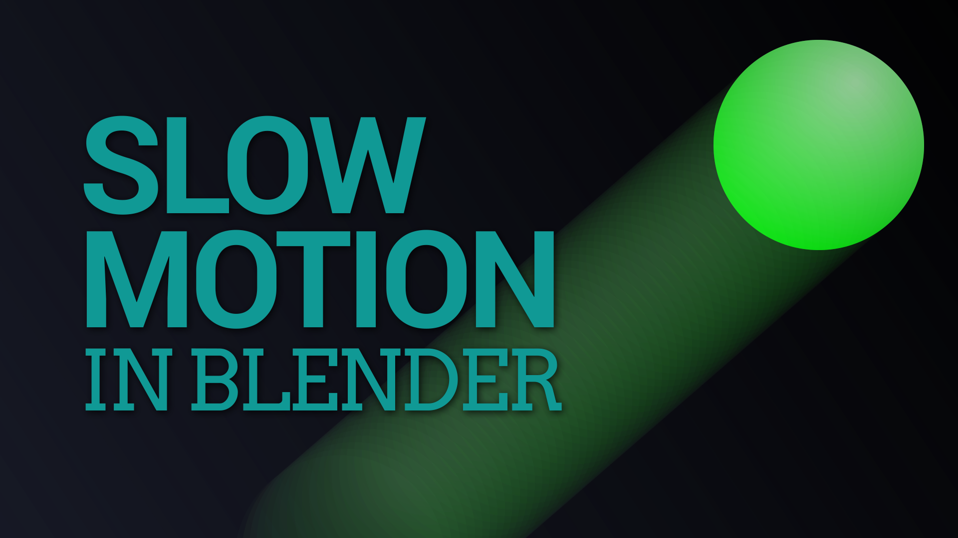 Rendering your animation in slow motion