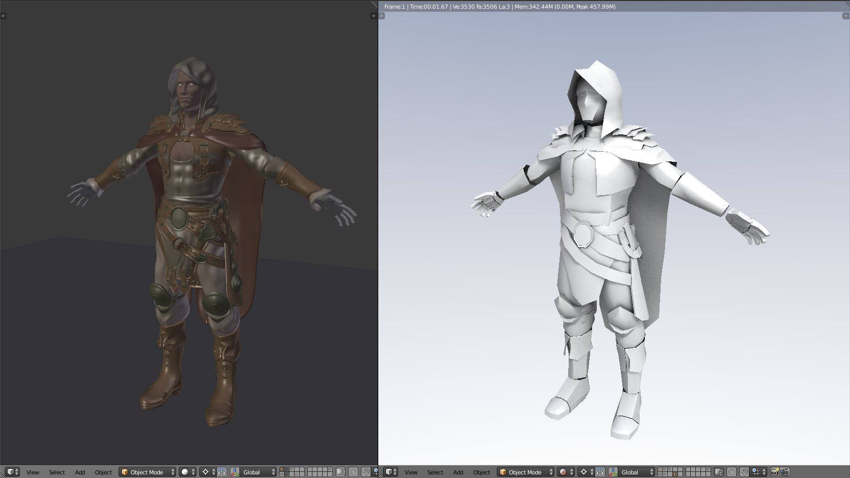 Easy Character Modeling Blender : Creating a character proxy mesh for easy animating