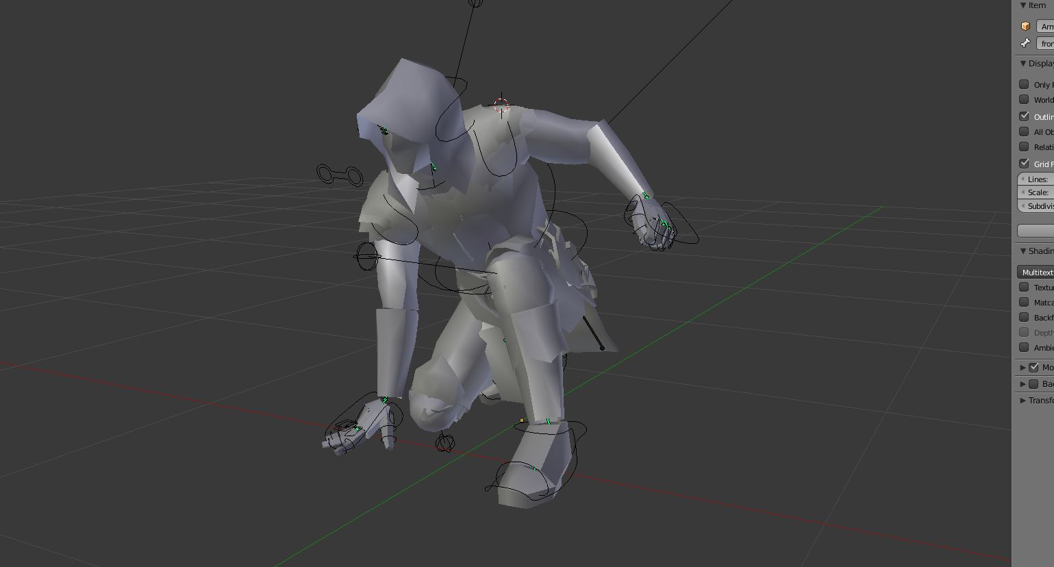 Blender Character Modeling And Rigging : Modifying a rig to new character blendernation
