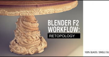 blender f2 retopology with free tools