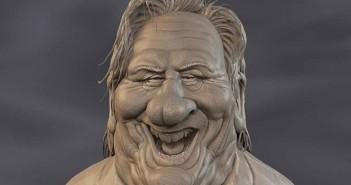 Gérard Depardieu 3D caricature cropped