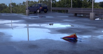 creating realistic puddles in Blender