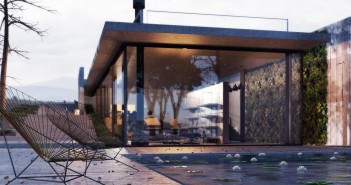 Architectural Visualisation inspired by the Barcelona pavilion