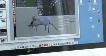 virtual mouse brain simulation in Blender