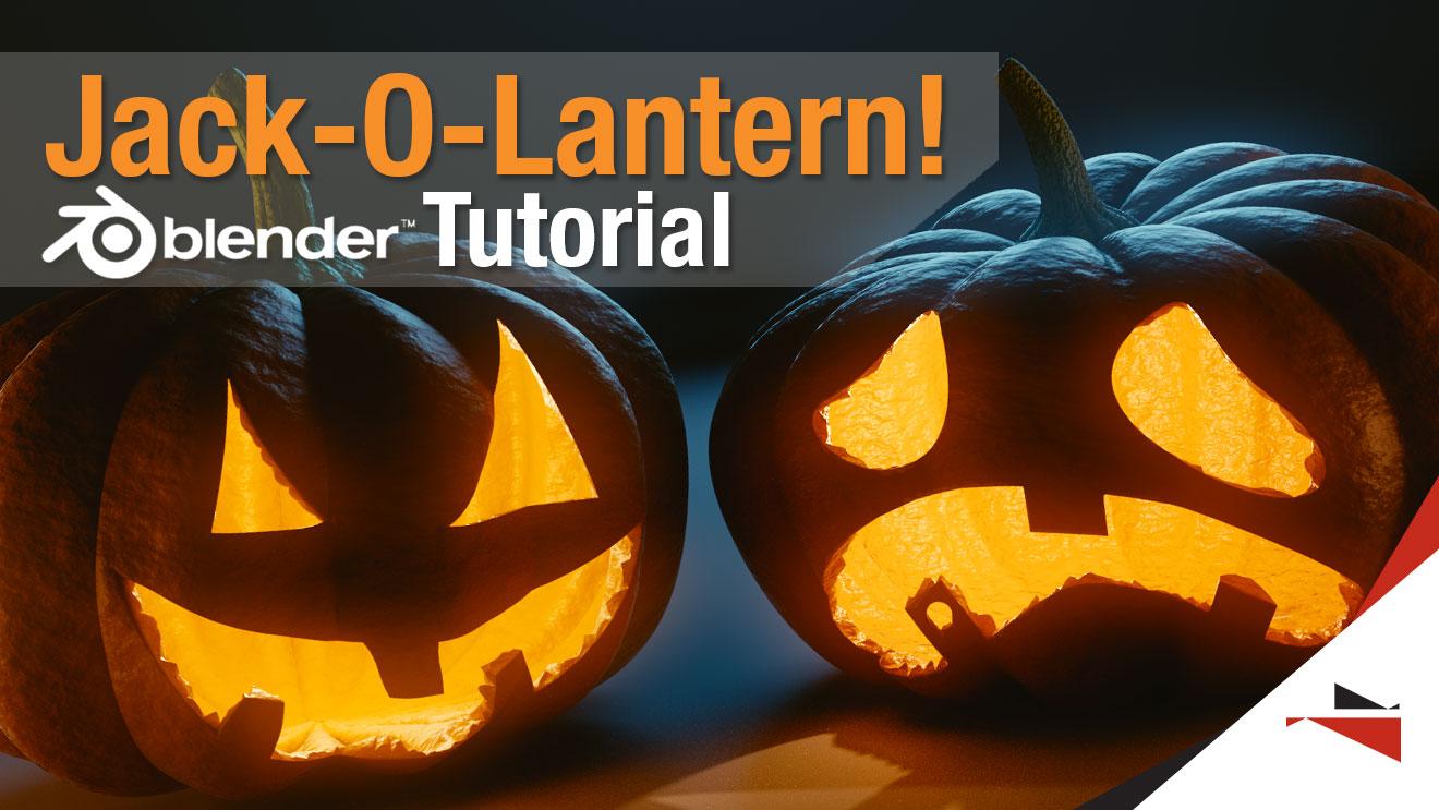 tutorial creating a halloween jack o lantern blendernation