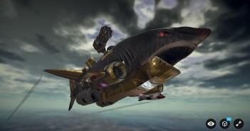 Sketchfab flying shark