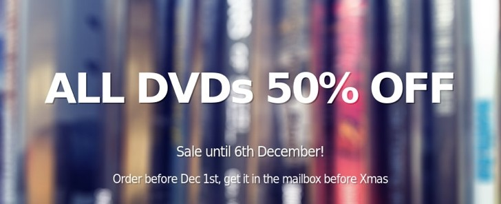Blender e-shop: 50-80% discount on DVDs