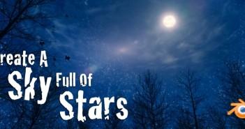 create a sky full of stars in Blender