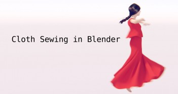 Cloth sewing in Blender