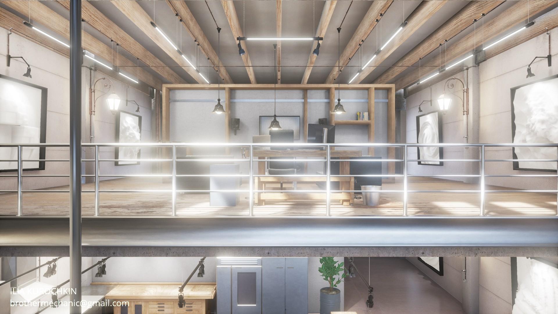 Video industrial interior blendernation - Industrial interior ...