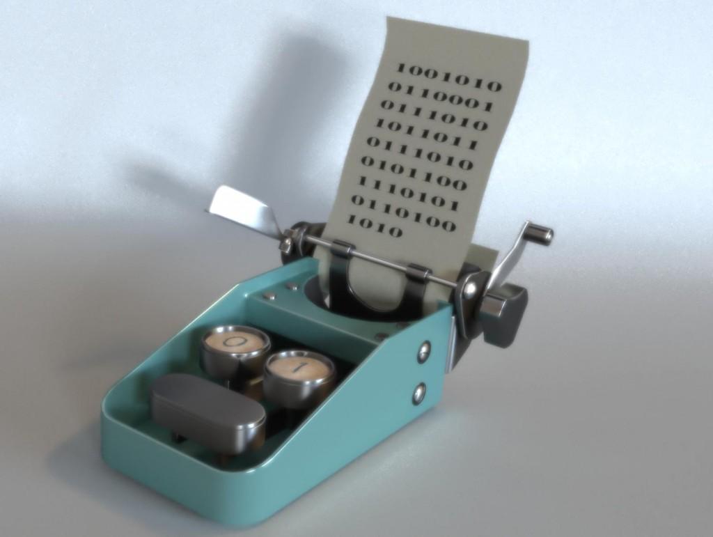 Binary Typewriter Bloom