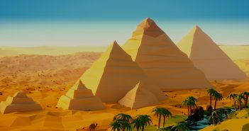low poly egypt header