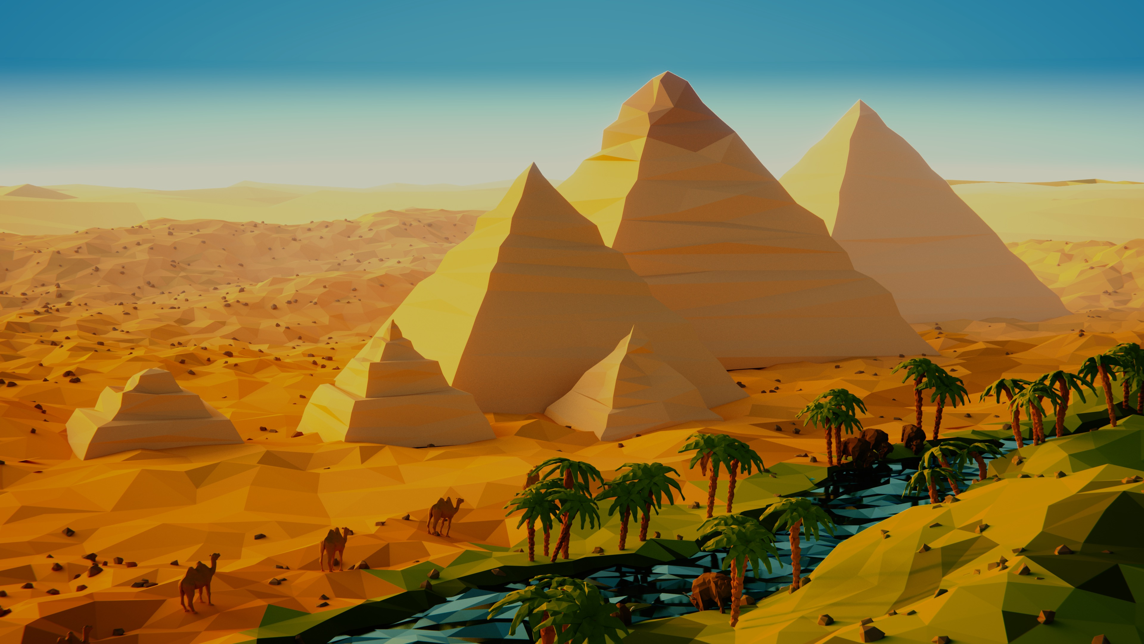 Image  Low Poly Egypt