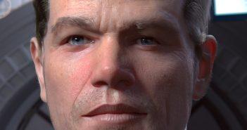 Portrait of Matt Damon in 'The Martian', done in Blender