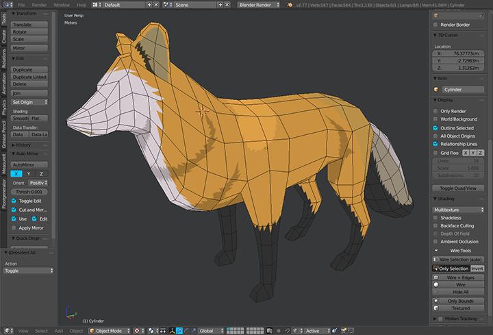 Blender for 3D game development in Blastocode