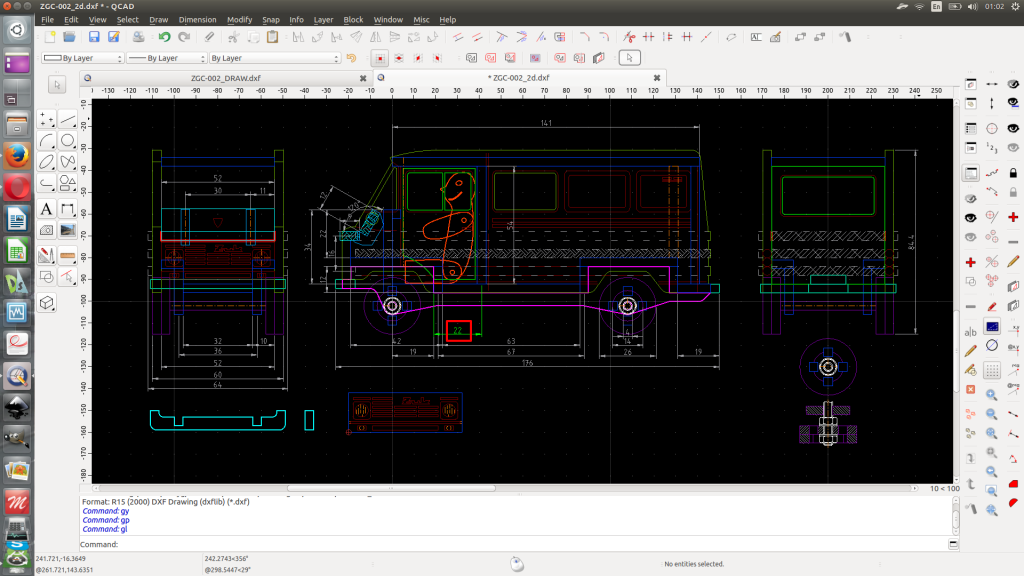 QCAD main workfile.