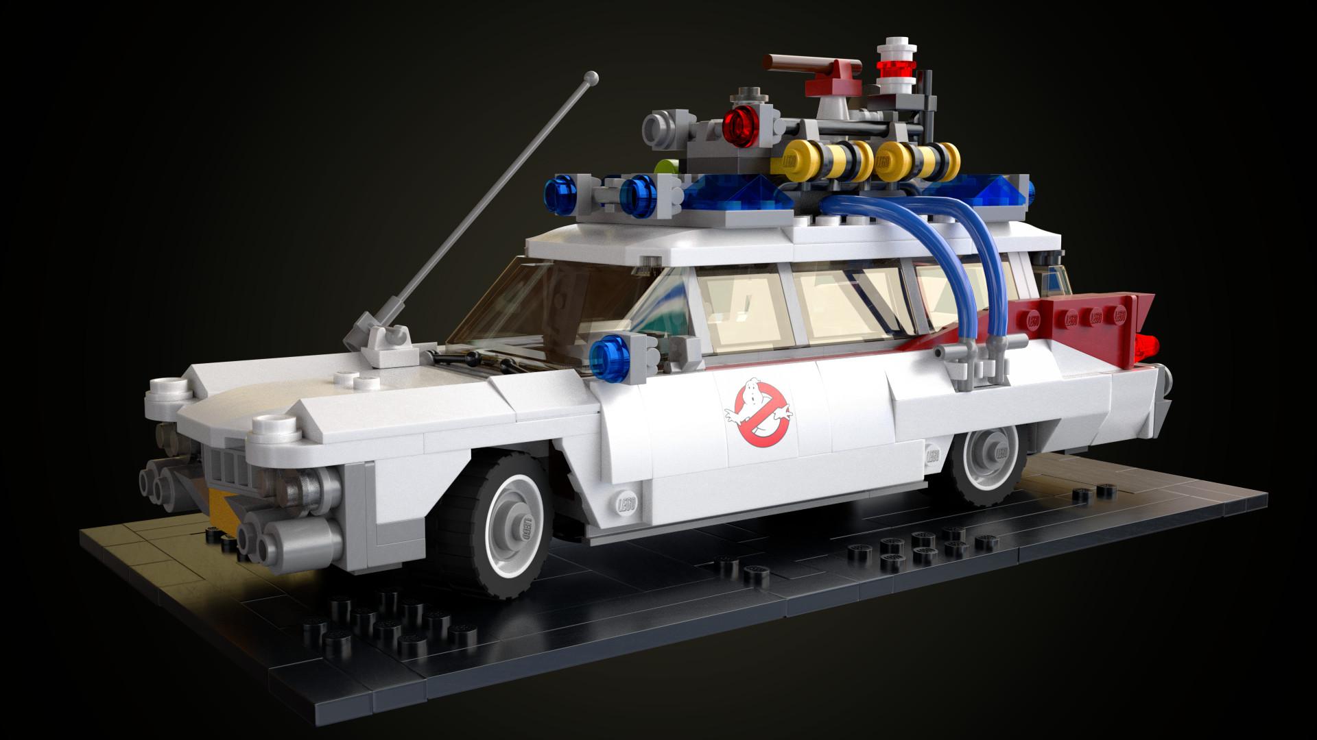lego ghostbusters ecto 1 car blendernation. Black Bedroom Furniture Sets. Home Design Ideas
