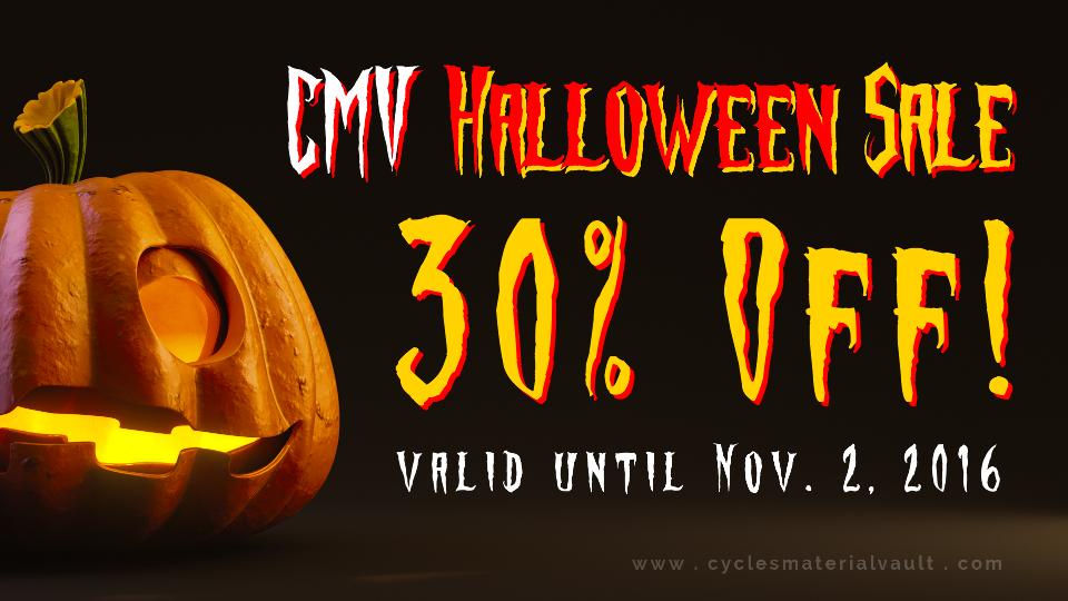CMV Halloween Sale 30% Off [$] - BlenderNation