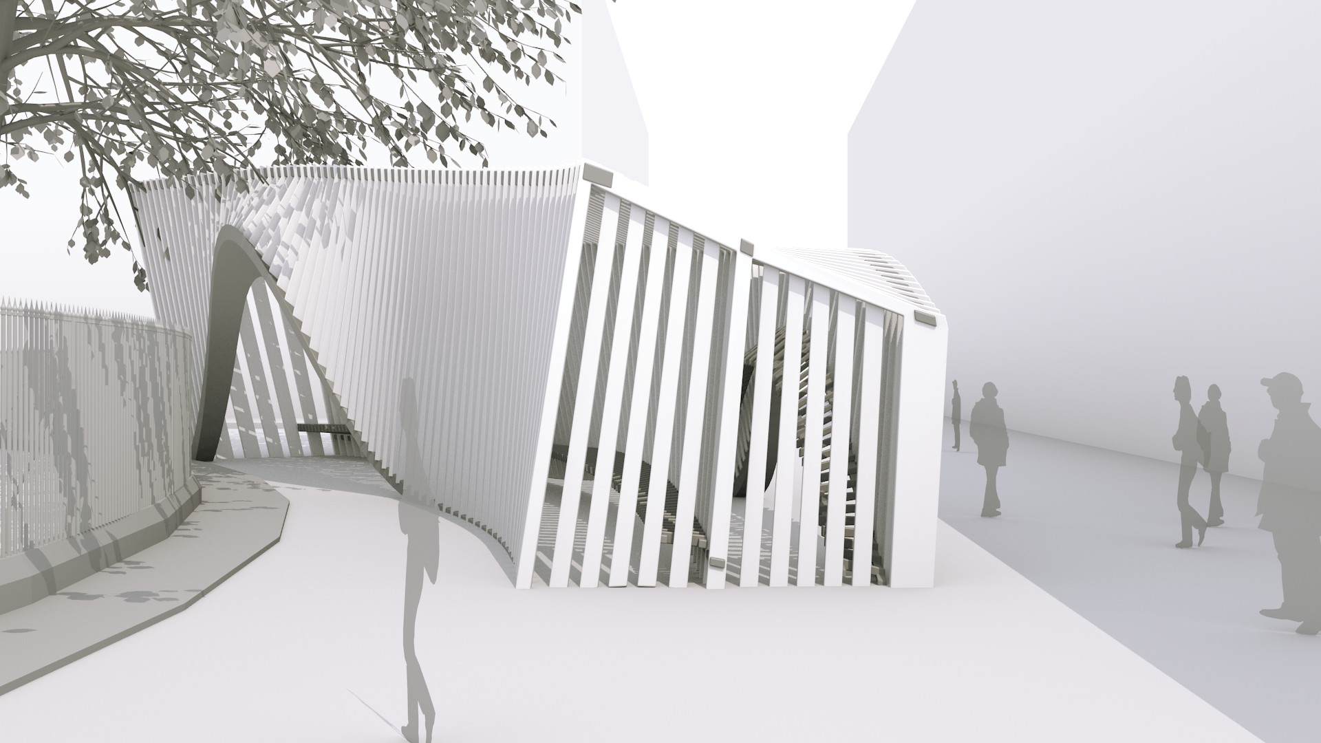 architectural concept design creating a pavilion blendernation