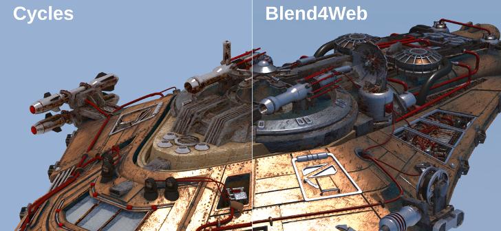 Blend4Web Embracing Cycles  BlenderNation