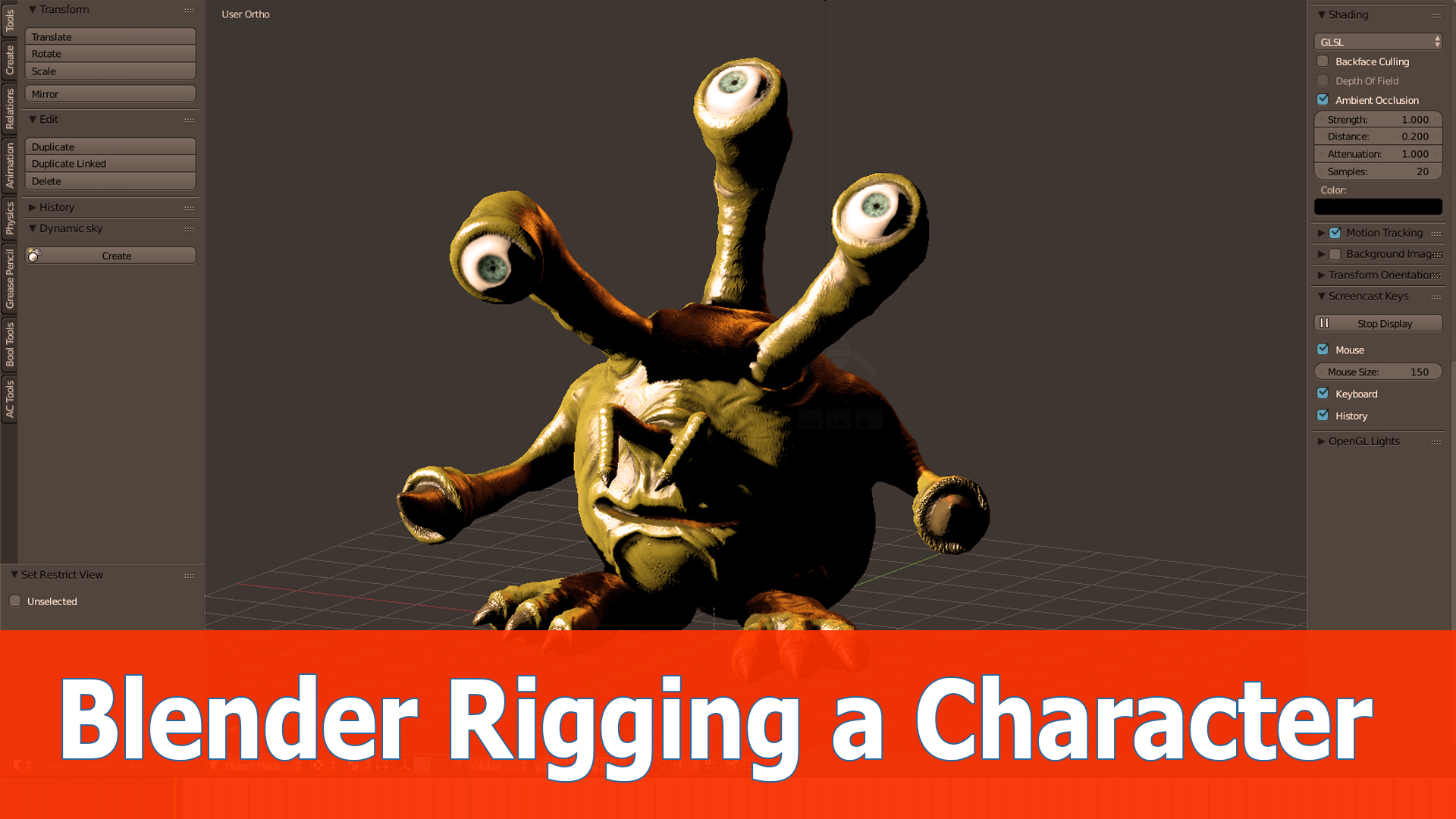 Introduction To Character Modeling In Blender Download : Blender character modeling download