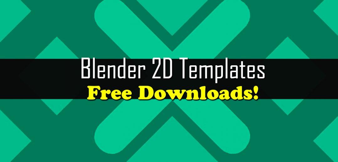 Blender 2d Intro Templates Free Downloads Blendernation