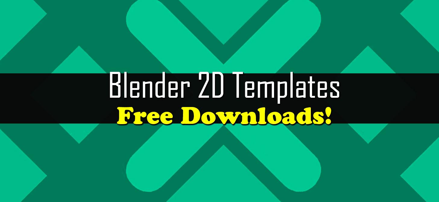 Blender 2D Intro Templates - Free Downloads - BlenderNation