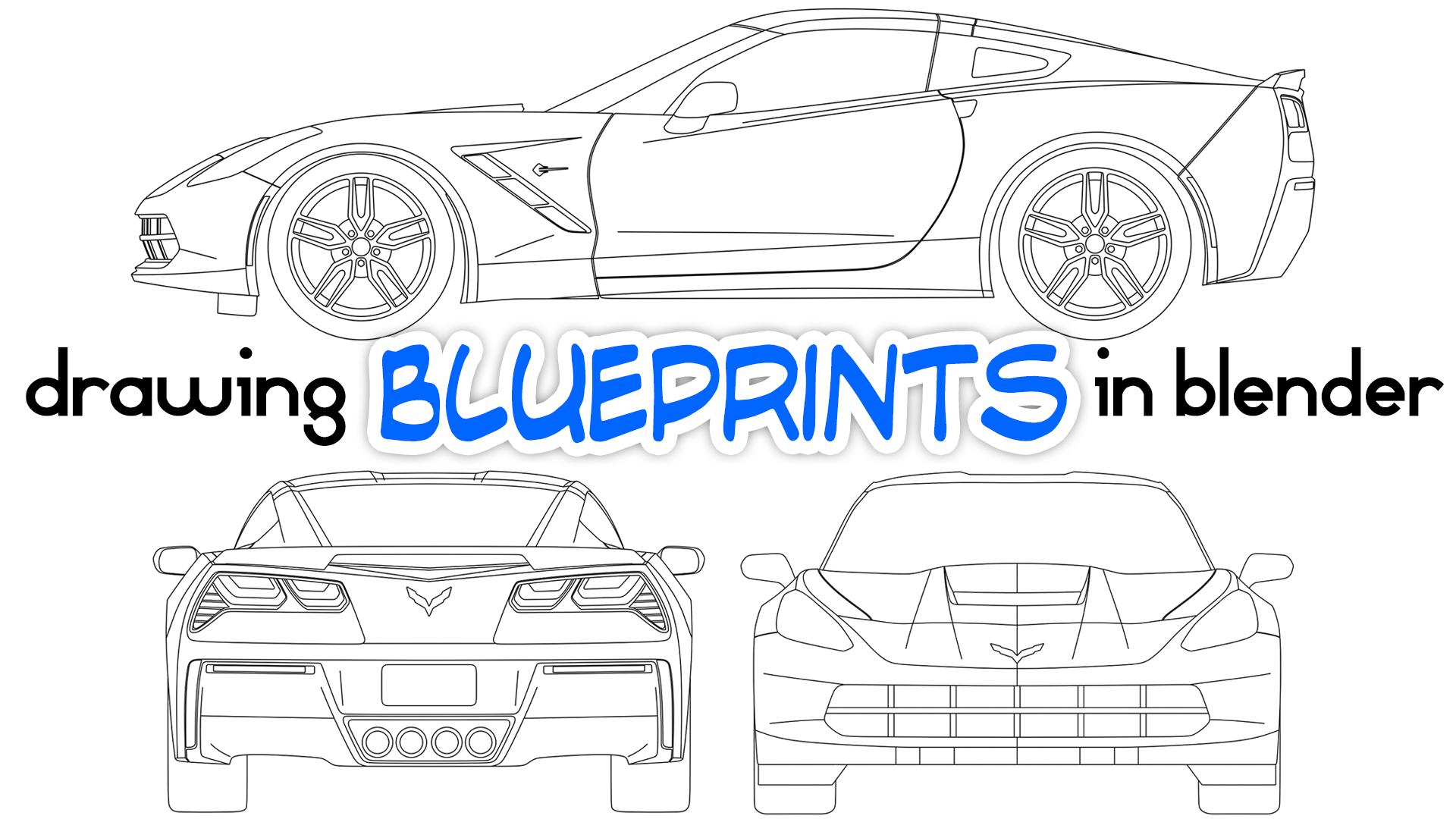 Drawing Car Blueprints In Blender Blendernation
