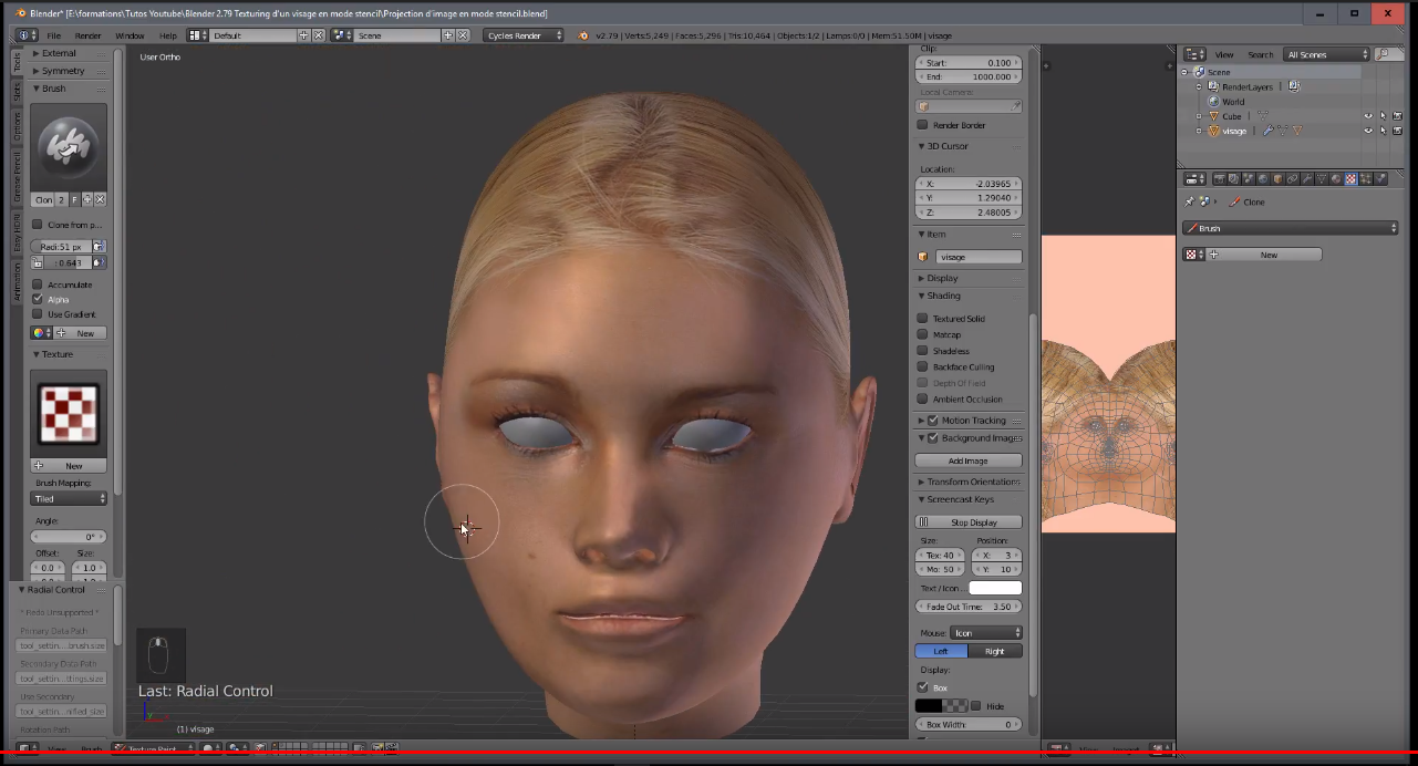 blender how to look at face