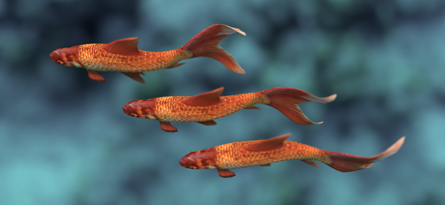 Making fish swim with new surface deform modifier for Swimming with the fishes