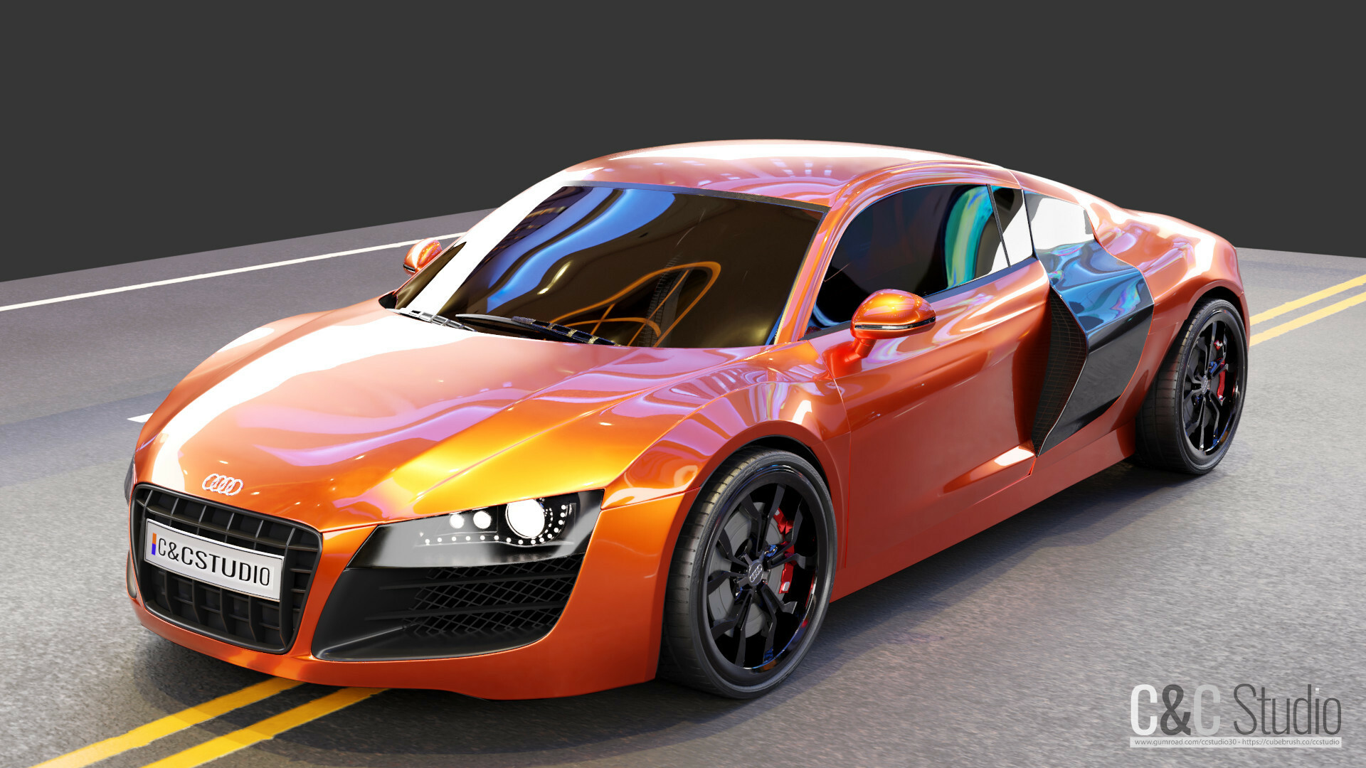 Audi R8 Model Free Download Cycles Eevee Blendernation