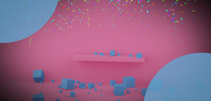 Shattering the default cube with rigid body physics