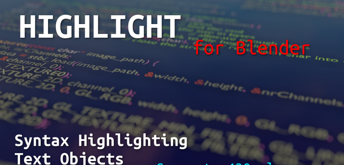 """Highlight"" - Addon for Syntax Highlighting Text Objects"