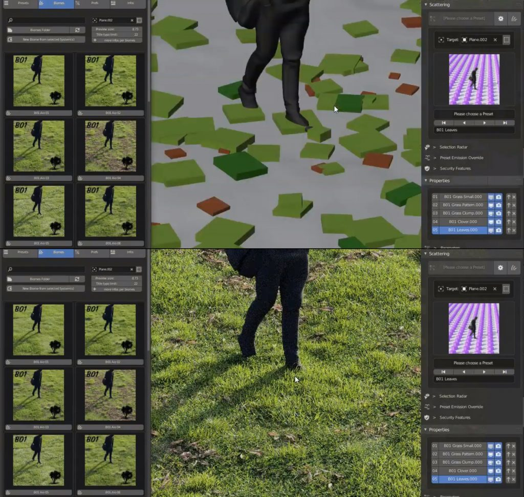 Create photorealistic grass from presets in just a few clicks
