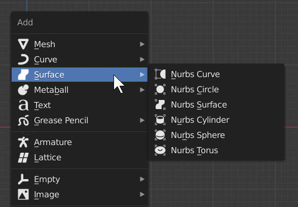Blender's limited NURBS surfaces