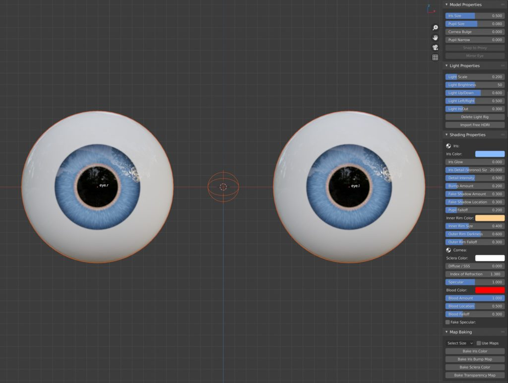 This is what you get once you've clicked the 'Import Eye' button