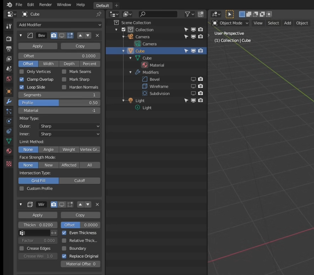 Customizing the UI to maximize space for Blender's modifiers and the Outliner