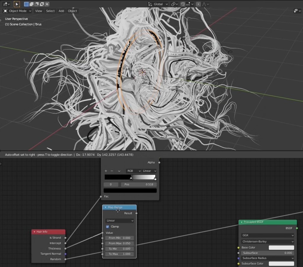 Using particle systems to achieve intriguing abstract effects
