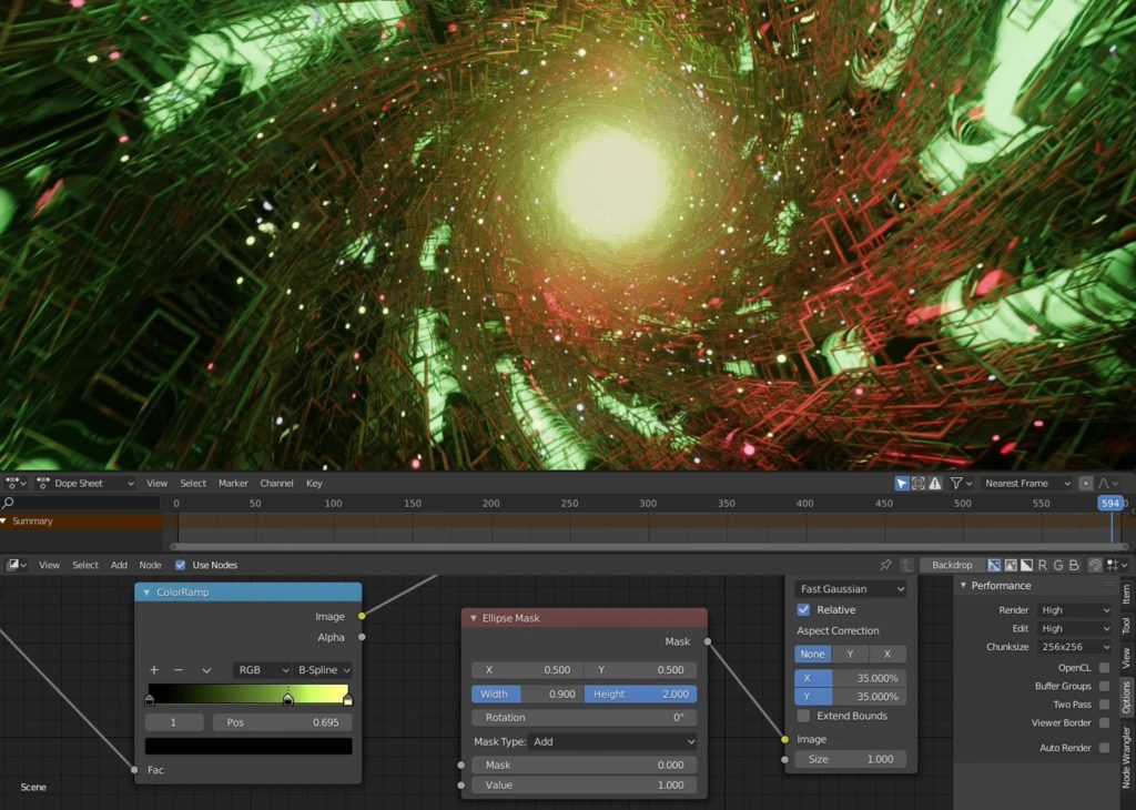 One of the projects shows how to create a VJ tunnel loop
