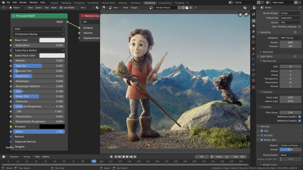 Cycles is Blender's most powerful integrated renderer